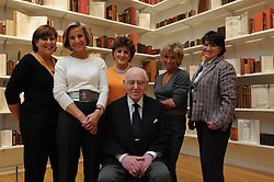 Here, Jack Lunzer, custodian of the Valmadonna Trust Library is seen with his family..---.Manhattan, New York: Tue, Feb 10, 2009: Sotheby's, 1334 York Ave, New York, NY: The Valmadonna Trust is the finest private library of Hebrew books and manuscripts in the world. Consisting of over 13,000 printed books and manuscripts, the library is monumental in its significance as a primary source on both world history and Jewish life and culture.  The collection boasts rarities dating from the 10th century to the early 20th century from Italy, Holland, England, Greece, Easter Europe, the Ottoman Empire, Poland, North Africa, India, and China, documenting the spread of the Hebrew press and the dissemination of Jewish culture around the globe. .---.Rob Bennett for The New York Times