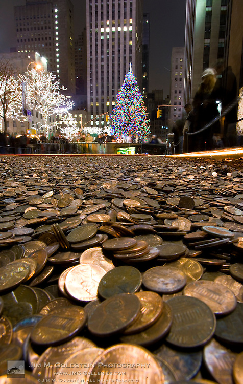 CommonCents Penny Harvest Field and Rockefeller Center Christmas Tree at Rockefeller Center, New York city on December 22, 2007