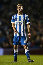 Brighton's Solly March agony at his missed free kick - Mandatory byline: Jason Brown/JMP - 07966 386802 - 20/10/2015 - FOOTBALL - American Express Community Stadium - Brighton,  England - Brighton & Hove Albion v Bristol City - Championship