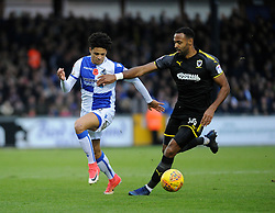 Daniel Leadbitter of Bristol Rovers is challenged by Liam Trotter of AFC Wimbledon - Mandatory by-line: Neil Brookman/JMP - 18/11/2017 - FOOTBALL - Memorial Stadium - Bristol, England - Bristol Rovers v AFC Wimbledon - Sky Bet League One