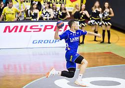 Luka Zvizej of RK Celje PL during handball match between RK Gorenje and RK Celje Pivovarna Lasko in 5th Round of 1st NLB Leasing Slovenian Champions League 2015/16, on May 11, 2016, in Red arena, Velenje, Slovenia. Photo by Vid Ponikvar / Sportida
