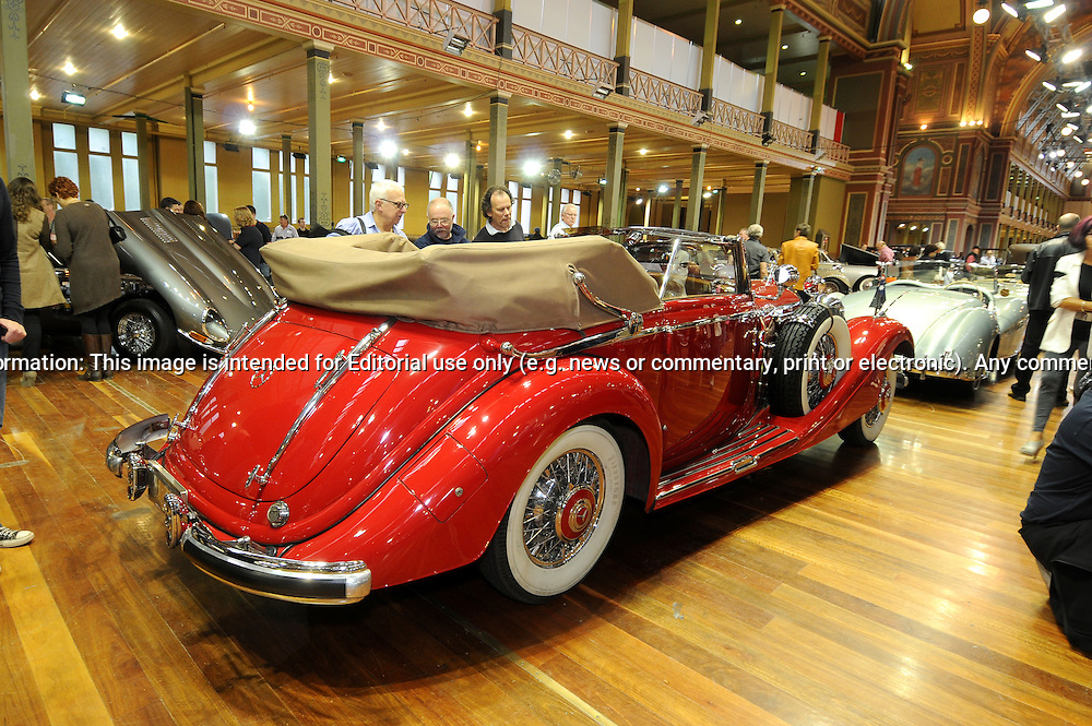 1936 Mercedes-Benz 540k Cabriolet C.RACV Motorclassica.The Australian International Concours d'Elegance & Classic Motor Show.Royal Exhibition Building .Carlton, Melbourne, Victoria.October 22nd 2011.(C) Joel Strickland Photographics.Use information: This image is intended for Editorial use only (e.g. news or commentary, print or electronic). Any commercial or promotional use requires additional clearance.