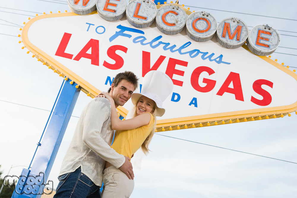 Couple having fun in Las Vegas, Nevada, USA