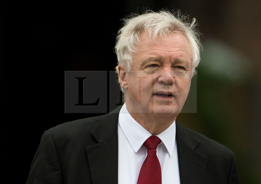 © Licensed to London News Pictures. 04/10/2017. Manchester, UK. Brexit secretary DAVID DAVIS seen on the final day of the Conservative Party Conference. The four day event is expected to focus heavily on Brexit, with the British prime minister hoping to dampen rumours of a leadership challenge. Photo credit: Ben Cawthra/LNP