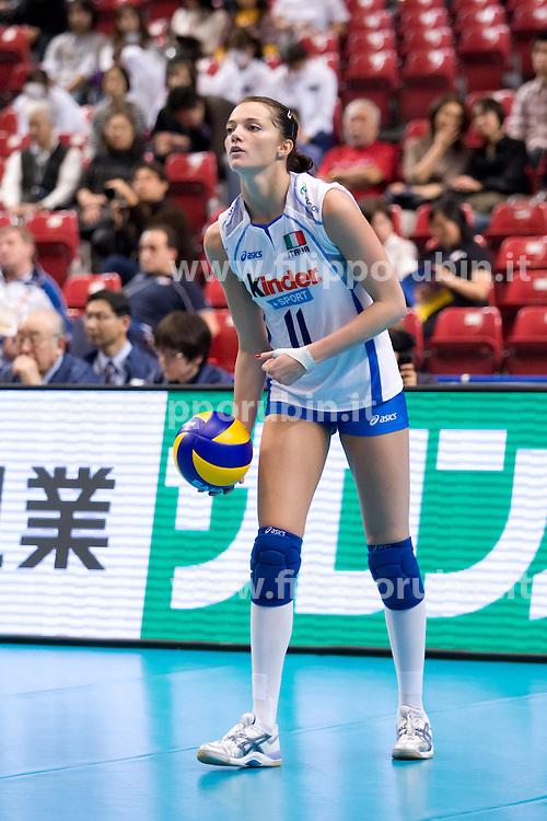 SERENA ORTOLANI IN BATTUTA.ITALIA - THAILANDIA.WORLD GRAND CHAMPIONS CUP 2009.TOKYO (JPN) 10-11-2009.FOTO GALBIATI - RUBIN