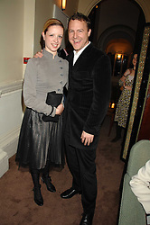 Actor SAM WEST and LAURA WADE at a party to celebrate the publication of Top Tips For Girls by Kate Reardon held at Claridge's, Brook Street, London on 28th January 2008.<br />