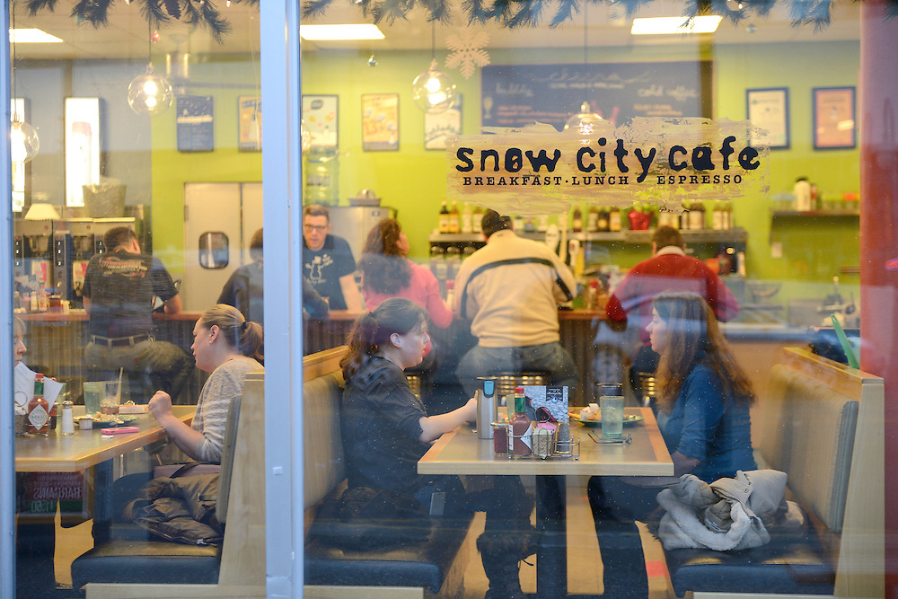 ASnow City Cafe, downtown Anchorage,Alaska,USA