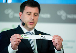 Ales Zavrl of NZS with paper NK Izola during NZS Draw for season 2015/16 on June 23, 2015 in Brdo pri Kranju, Slovenia. Photo by Vid Ponikvar / Sportida