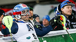26.01.2016, Planai, Schladming, AUT, FIS Weltcup Ski Alpin, Schladming, Slalom, Herren, 2. Durchgang, im Bild Stefano Gross (ITA) // Stefano Gross of Italy reacts after his 2nd run of men's Slalom Race of Schladming FIS Ski Alpine World Cup at the Planai in Schladming, Austria on 2016/01/26. EXPA Pictures © 2016, PhotoCredit: EXPA/ Johann Groder