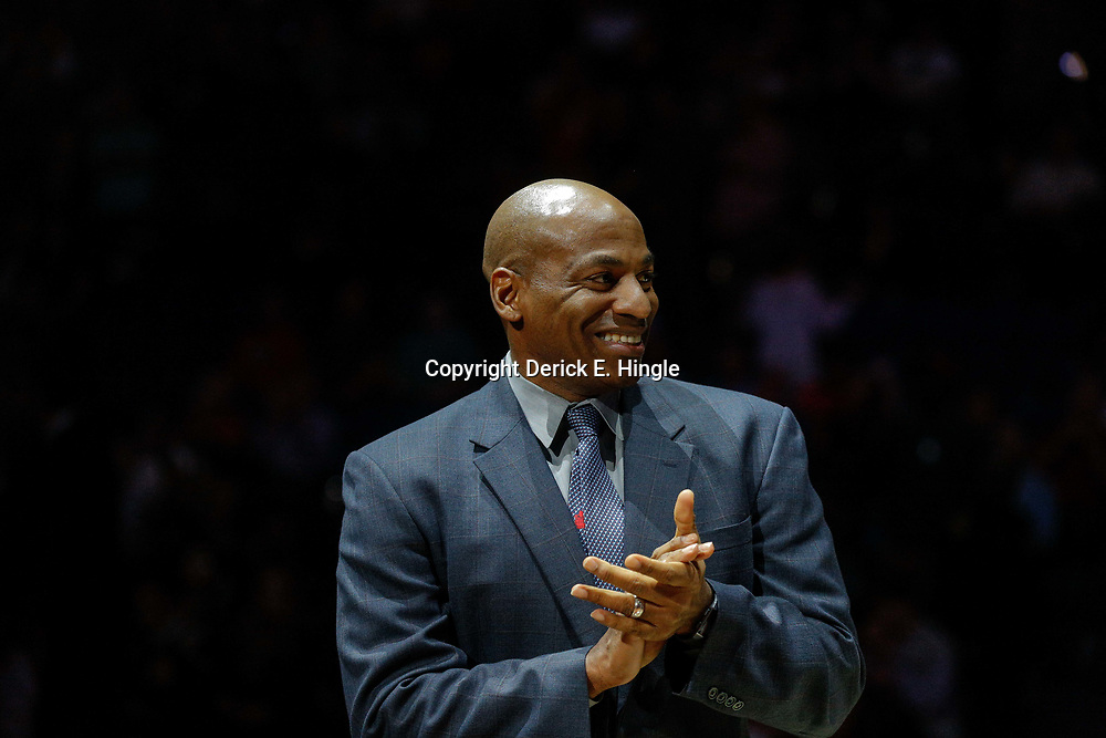 Feb 14, 2018; New Orleans, LA, USA; New Orleans Pelicans general manager Dell Demps before a game against the Los Angeles Lakers at the Smoothie King Center. Mandatory Credit: Derick E. Hingle-USA TODAY Sports