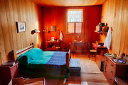 USA, Washington, Fort Vancouver National Historic Site, bedroom. Digital Composite, HDR