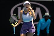 Caroline Wozniacki of Denmark in action during her second round match at the 2020 Australian Open, WTA Grand Slam tennis tournament on January 22, 2020 at Melbourne Park in Melbourne, Australia - Photo Rob Prange / Spain ProSportsImages / DPPI / ProSportsImages / DPPI