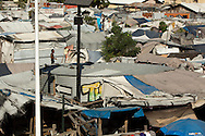 Five years after the quake, a tent camp behind the Notre Dame de l'Assomption Catholic church still houses the displaced, in Port-au-Prince, Haiti, January 4, 2015.