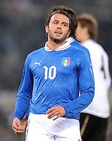 Fussball International, Nationalmannschaft   EURO 2012 Play Off, Qualifikation, Italien - Uruguay      15.11.2011 Giampaolo Pazzini (Italien)