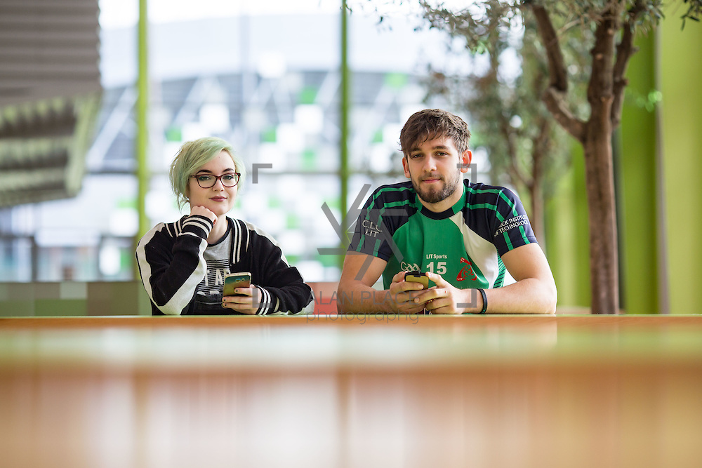 09.01.2017           <br /> LIT Snap Chat<br /> LIT Social Care student, Amy McLaughlin and Law and Taxation student, Martin Daly. Picture: Alan Place