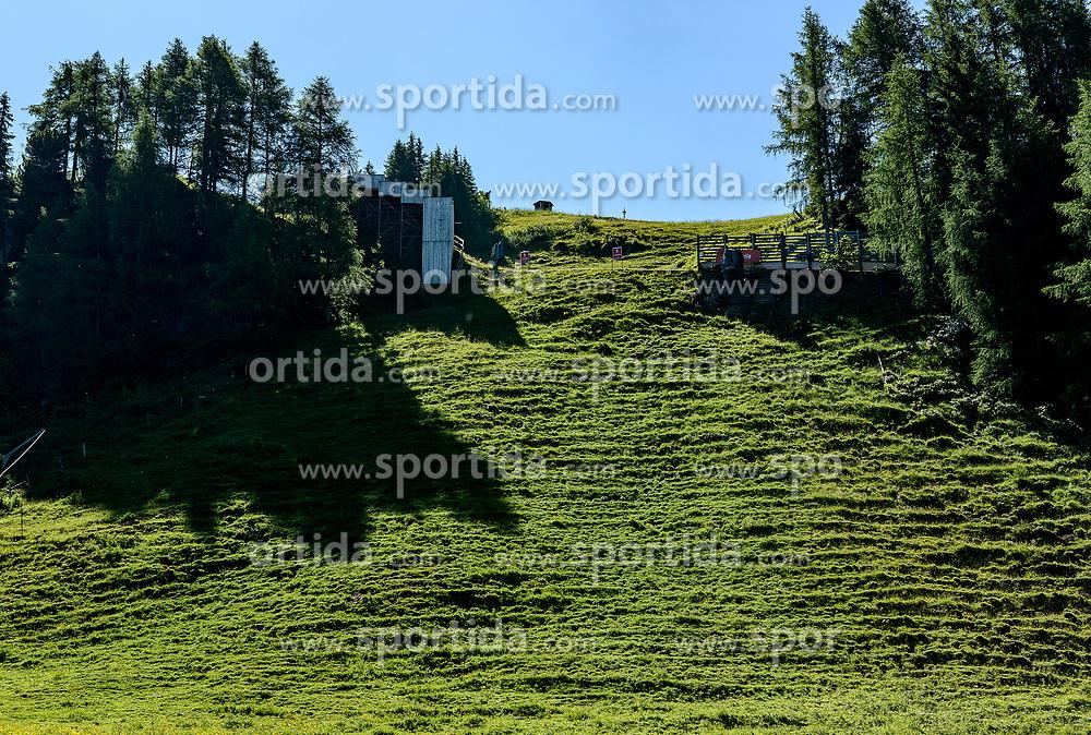 THEMENBILD - Der Blick die Mausefalle hinauf, aufgenommen am 26. Juni 2017, Kitzbühel, Österreich // The view up the Mausefalle at the Streif, Kitzbühel, Austria on 2017/06/26. EXPA Pictures © 2017, PhotoCredit: EXPA/ Stefan Adelsberger