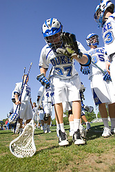 06 May 2007: Duke Blue Devils defenseman Casey Carroll (37) after a 19-6 victory over the Air Force Falcons at Koskinen Stadium in Durham, NC.