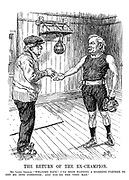 """The Return of the Ex-Champion. Mr. Lloyd George. """"Welcome back! I've been waiting for a sparring partner to get me into condition; and you're the very man."""""""