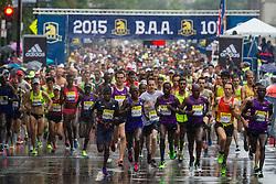 BAA 10K:  rain-soaked start