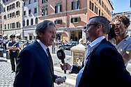 Roma 2 Ottobre 2013<br /> Ciro Falanga, Senatore del  Partito della Libert&agrave;, rilascia un intervista a una televisione estera<br /> Ciro Falanga, Senator of the Freedom Party, gives an interview to a foreign television