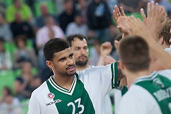 Casey Mitchell of Union Olimpija before basketball match between KK Union Olimpija Ljubljana and KK Krka in 2nd game final of Telemach Slovenian Champion League 2011/12, on May 20, 2012 in Arena Stozice, Ljubljana, Slovenia. (Photo by Grega Valancic/ Sportida.com)