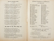 All Ireland Senior Hurling Championship Final,.Programme,.05.09.1954, 09.05.1954, 5th September 1954,.Cork 1-9, Wexford 1-6,.Minor Dublin v Tipperary, .Senior Cork v Wexford,.Croke Park,..Songs, Kelly of Killane, The Banks of My Own Lovely Lee, ..Articles, Foirne Ceannair Na hEireann in Lomaint, Programme of Music,