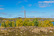 Superstack and reclaimed landscape. Kelly Lake. Kelly Lake Road.<br />