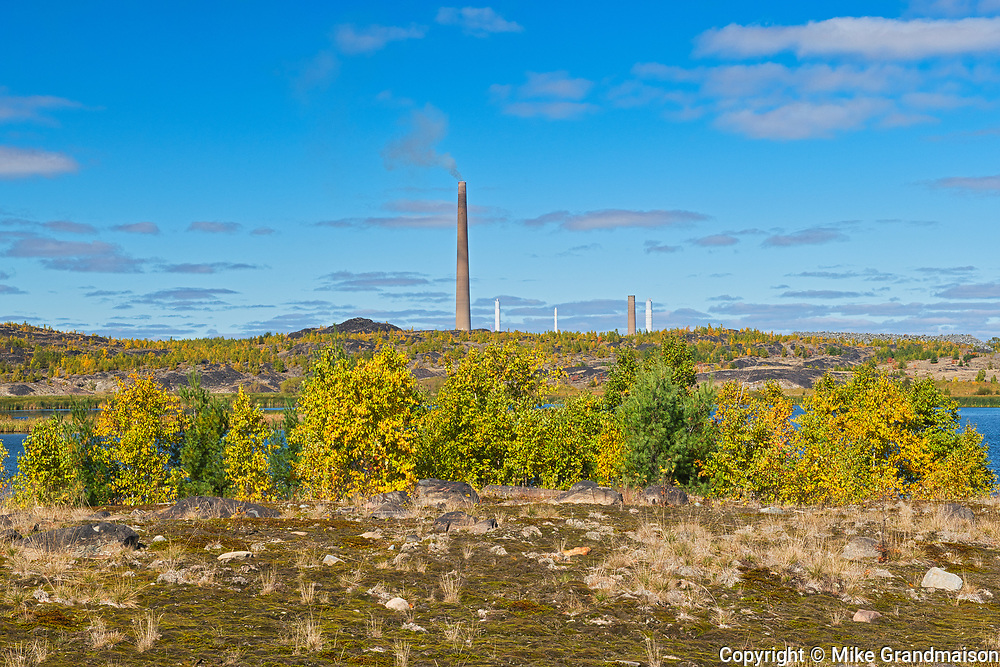 Superstack and reclaimed landscape. Kelly Lake. Kelly Lake Road.<br />Greater Sudbury<br />Ontario<br />Canada