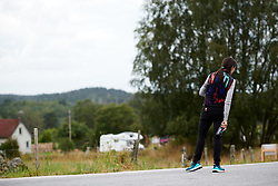 CANYON//SRAM Racing soigneur, Alessandra Borchi looks out for the riders coming into view during Postnord UCI WWT Vårgårda WestSweden Road Race, a 145.3 km road race in Vårgårda, Sweden on August 18, 2019. Photo by Sean Robinson/velofocus.com