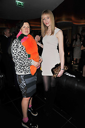 Left to right, KATIE GRAND and JADE PARFITT at a party to celebrate the 15th birthday of Vogue.com held at W Hotel, Leicester Square, London W1 on 17th February 2011.