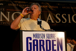 July 13, 2009; New York, NY, USA; Gary Shaw, promoter of Andre Dirrell speaks at the press conference at Madison Square Garden announcing the Super Six World Boxing Classic, which will pit six of the world's top super middleweights in a series of bouts.
