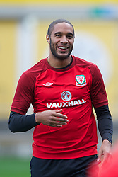 CARDIFF, WALES - Monday, October 15, 2012: Wales' captain Ashley Williams during a training session at the Cardiff City Stadium ahead of the Brazil 2014 FIFA World Cup Qualifying Group A match against Croatia. (Pic by David Rawcliffe/Propaganda)