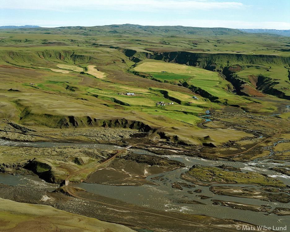 Skaftárdalur séð til norðurs, Skaftá, Kirkjubæjarhreppur /.Skaftardalur viewing north,  river Skafta, Kirkjubaejarhreppur.