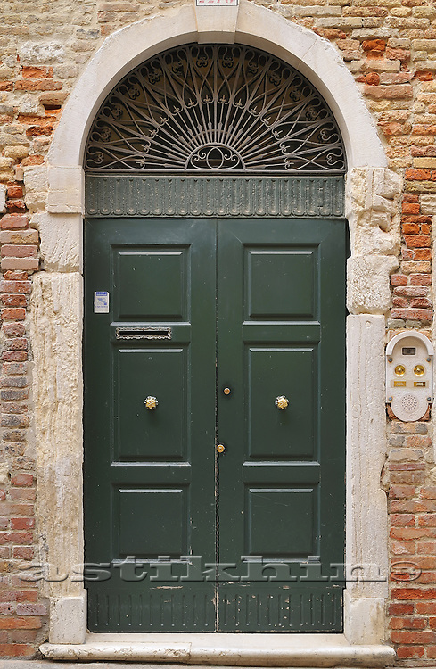 Door in Venice house.