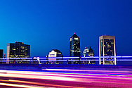 Dowtown Jacksonville as seen from the Acosta Bridge.