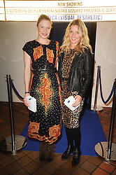 Left to right, fashion designer GEORGIA HARDINGE and ANNABELLE WALLIS at the Launch of Peroni Nastro Azzurro Accademia del Film Wrap Party Tour held atThe Boiler House, 152 Brick Lane, London E1 on 25th August 2010.