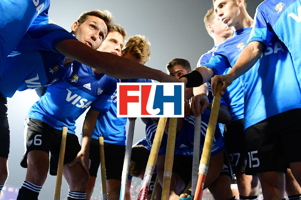 Odisha Men's Hockey World League Final Bhubaneswar 2017<br /> Match id:08<br /> Netherlands v Argentina<br /> Foto: Huddle Argentina<br /> WORLDSPORTPICS COPYRIGHT FRANK UIJLENBROEK