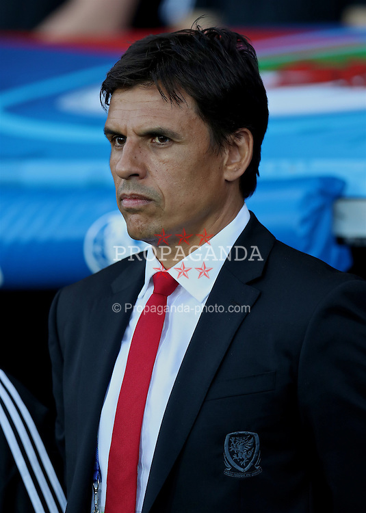 TOULOUSE, FRANCE - Monday, June 20, 2016: Wales' manager Chris Coleman before the final Group B UEFA Euro 2016 Championship match against Russia at Stadium de Toulouse. (Pic by David Rawcliffe/Propaganda)