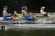 2006 FISA World Cup, Lucerne, SWITZERLAND, 07.07.2006. Lightweight Women's double Sculls, FIN LW2X [Blue] Bow Sanna STEN and Minna MIEMINHEN and USA LW2X, bow Renee HYKEL and Julia NICHOLS,   Photo  Peter Spurrier/Intersport Images email images@intersport-images.com.[Friday Morning]...[Mandatory Credit Peter Spurrier/Intersport Images... Rowing Course, Lake Rottsee, Lucerne, SWITZERLAND.
