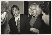 Leon Wieseltier, New Republic party. Washington. 1993.