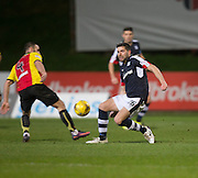 Dundee&rsquo;s Kostadin Gadzhalov clears from Partick Thistle's Sean Welsh - Partick Thistle v Dundee in the Ladbrokes Scottish Premiership at Firhill, Glasgow - Photo: David Young, <br /> <br />  - &copy; David Young - www.davidyoungphoto.co.uk - email: davidyoungphoto@gmail.com