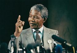 NELSON ROLIHLAHLA MANDELA (July 18, 1918 - December 5, 2013) world renowned civil rights activist and world leader dies at 95. Mandela emerged from prison to become the first black President of South Africa in 1994. As a symbol of peacemaking, he won the 1993 Nobel Peace Prize. Joined his countries anti-apartheid movement in his 20s and then the ANC (African National Congress) in 1942. For next 20 years, he directed a campaign of peaceful, non-violent defiance against the South African government and its racist policies and for his efforts was incarcerated for 27 years. PICTURED: Jan 28, 2011 - Sweden - NELSON MANDELA speaks during a visit to Sweden. (Credit Image: © Aftonbladet/IBL/ZUMAPRESS.com)