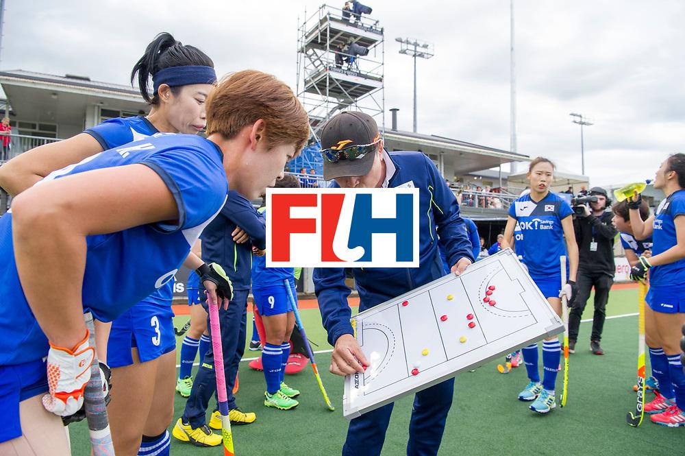 AUCKLAND - Sentinel Hockey World League final women<br /> Match id: 10299<br /> 09 NED v KOR (Pool A)<br /> Foto:  Sang YoungHUH Head Coach <br /> WORLDSPORTPICS COPYRIGHT FRANK UIJLENBROEK