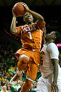 WACO, TX - JANUARY 25: Isaiah Taylor #1 of the Texas Longhorns drives to the basket against the Baylor Bears on January 25, 2014 at the Ferrell Center in Waco, Texas.  (Photo by Cooper Neill/Getty Images) *** Local Caption *** Isaiah Taylor