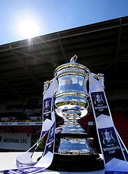 The FA Cup is displayed before the game - Photo mandatory by-line: Joseph Meredith/JMP - Tel: Mobile: 07966 386802 - 26/05/2013 - SPORT - FOOTBALL - Keepmoat Stadium - Doncaster . Arsenal Ladies v Bristol Academy WFC - The FA Women's Cup.