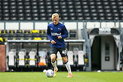 Louie Sibley of Derby County warming up during the EFL Sky Bet Championship match between Derby County and Brentford at the Pride Park, Derby, England on 11 July 2020.
