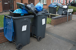 &copy; Licensed to London News Pictures. 25/07/2017. Birmingham, UK. The strike by Birmingham bin men continues as piles of rubbish in certain areas goes uncollected.<br /> Pictured the scene in Tarry Road, Alum Rock.  Photo credit: Dave Warren/LNP