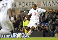 Photo: Ed Godden/Sportsbeat Images.<br /> Tottenham Hotspur v Anorthosis Famagusta. UEFA Cup, First Leg. 20/09/2007. Spurs' Jermain Defoe scores his 2nd of the game.