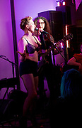 Amanda Palmer <br /> live at Her Upstairs, Camden Town, London, Great Britain <br /> 21st September 2017 <br /> <br /> Andrew O'Neill <br /> Comedian / transvestite <br /> <br /> Photograph by Elliott Franks <br /> Image licensed to Elliott Franks Photography Services Raising awareness and funds for The Outside Project which aims to create the UK's first LGBTIQ+ winter shelter