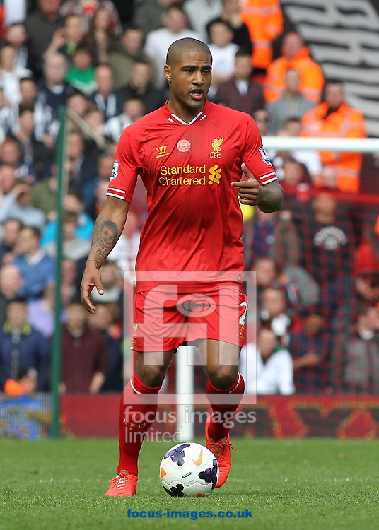 Glen Johnson of Liverpool in action against Newcastle United during the Barclays Premier League match at Anfield, Liverpool.<br /> Picture by Michael Sedgwick/Focus Images Ltd +44 7900 363072<br /> 11/05/2014